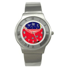 Playful Abstraction Stainless Steel Watch by Valentinaart