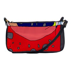 Playful Abstraction Shoulder Clutch Bags by Valentinaart