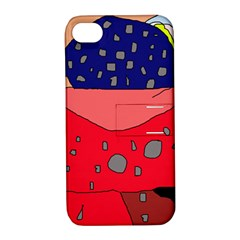 Playful Abstraction Apple Iphone 4/4s Hardshell Case With Stand by Valentinaart