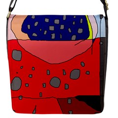 Playful Abstraction Flap Messenger Bag (s) by Valentinaart