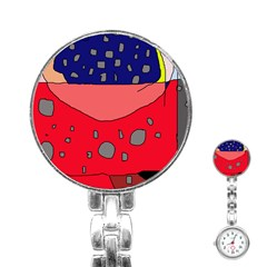 Playful Abstraction Stainless Steel Nurses Watch by Valentinaart