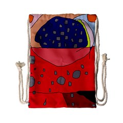 Playful Abstraction Drawstring Bag (small) by Valentinaart