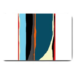 Colorful Lines  Large Doormat  by Valentinaart
