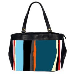 Colorful Lines  Office Handbags (2 Sides)  by Valentinaart