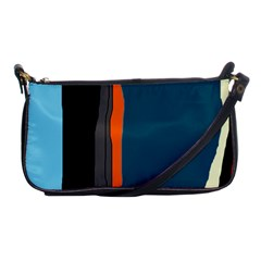 Colorful Lines  Shoulder Clutch Bags by Valentinaart