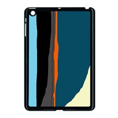 Colorful Lines  Apple Ipad Mini Case (black) by Valentinaart