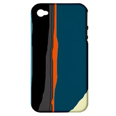 Colorful Lines  Apple Iphone 4/4s Hardshell Case (pc+silicone) by Valentinaart