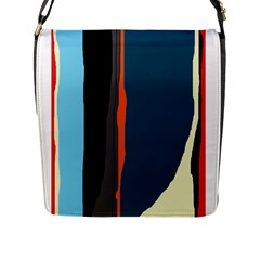 Colorful Lines  Flap Messenger Bag (l)  by Valentinaart