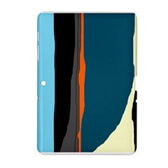 Colorful Lines  Samsung Galaxy Tab 2 (10 1 ) P5100 Hardshell Case  by Valentinaart