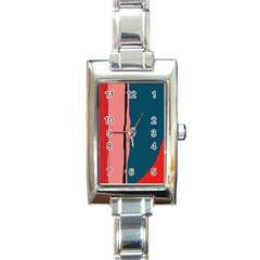 Decorative Lines Rectangle Italian Charm Watch by Valentinaart