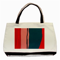 Decorative Lines Basic Tote Bag by Valentinaart