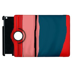 Decorative Lines Apple Ipad 3/4 Flip 360 Case by Valentinaart