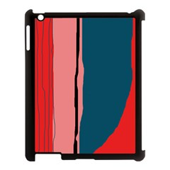 Decorative Lines Apple Ipad 3/4 Case (black) by Valentinaart