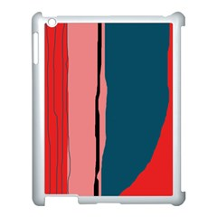 Decorative Lines Apple Ipad 3/4 Case (white) by Valentinaart