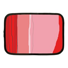 Red And Pink Lines Netbook Case (medium)  by Valentinaart