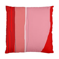 Red And Pink Lines Standard Cushion Case (two Sides) by Valentinaart