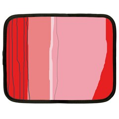 Red And Pink Lines Netbook Case (xxl)  by Valentinaart