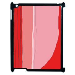 Red And Pink Lines Apple Ipad 2 Case (black) by Valentinaart