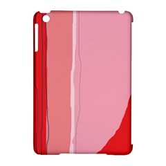 Red And Pink Lines Apple Ipad Mini Hardshell Case (compatible With Smart Cover) by Valentinaart