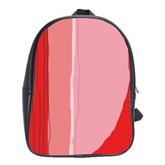 Red And Pink Lines School Bags (xl)  by Valentinaart