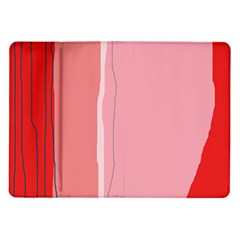 Red And Pink Lines Samsung Galaxy Tab 10 1  P7500 Flip Case by Valentinaart