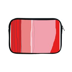 Red And Pink Lines Apple Ipad Mini Zipper Cases by Valentinaart