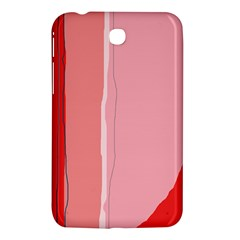 Red And Pink Lines Samsung Galaxy Tab 3 (7 ) P3200 Hardshell Case