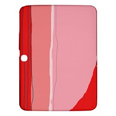 Red And Pink Lines Samsung Galaxy Tab 3 (10 1 ) P5200 Hardshell Case  by Valentinaart
