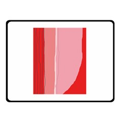 Red And Pink Lines Double Sided Fleece Blanket (small)  by Valentinaart