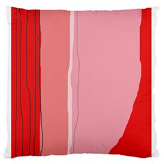 Red And Pink Lines Standard Flano Cushion Case (one Side) by Valentinaart