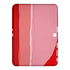 Red And Pink Lines Samsung Galaxy Tab 4 (10 1 ) Hardshell Case  by Valentinaart
