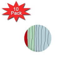Decorative Lines 1  Mini Buttons (10 Pack)  by Valentinaart