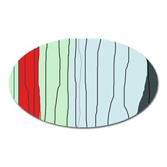 Decorative Lines Oval Magnet by Valentinaart