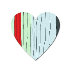 Decorative Lines Heart Magnet by Valentinaart