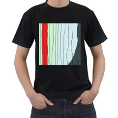 Decorative Lines Men s T-shirt (black) (two Sided) by Valentinaart