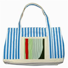 Decorative Lines Striped Blue Tote Bag by Valentinaart