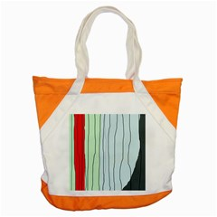 Decorative Lines Accent Tote Bag by Valentinaart