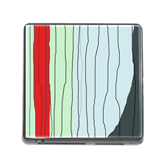 Decorative Lines Memory Card Reader (square) by Valentinaart