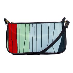 Decorative Lines Shoulder Clutch Bags by Valentinaart