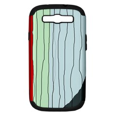 Decorative Lines Samsung Galaxy S Iii Hardshell Case (pc+silicone) by Valentinaart