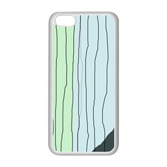 Decorative Lines Apple Iphone 5c Seamless Case (white) by Valentinaart
