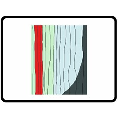 Decorative Lines Double Sided Fleece Blanket (large)  by Valentinaart