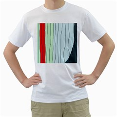 Decorative Lines Men s T-shirt (white)  by Valentinaart