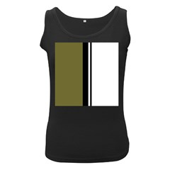 Elegant Lines Women s Black Tank Top by Valentinaart