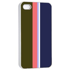 Decorative Lines Apple Iphone 4/4s Seamless Case (white) by Valentinaart