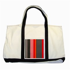Optimistic Lines Two Tone Tote Bag by Valentinaart