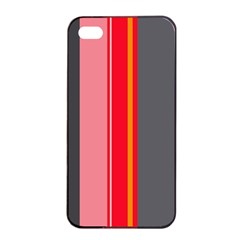 Optimistic Lines Apple Iphone 4/4s Seamless Case (black) by Valentinaart
