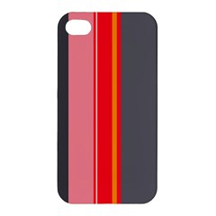 Optimistic Lines Apple Iphone 4/4s Hardshell Case by Valentinaart