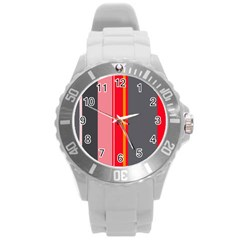 Optimistic Lines Round Plastic Sport Watch (l) by Valentinaart