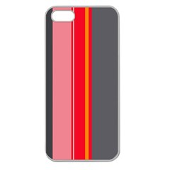 Optimistic Lines Apple Seamless Iphone 5 Case (clear) by Valentinaart